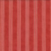Moda - Grant Park - 3062 - Cream Stripes on Red Background - 14774-11 - Cotton Fabric